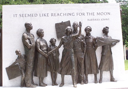 More than a half-century after leading a student protest, Barbara Johns was included in Virginia's Civil Rights Memorial in Richmond, the former capital of the Confederacy.