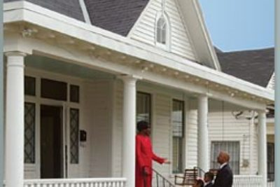 A small museum preserves the house where Dr. Martin Luther King lived during the Montgomery bus boycott.