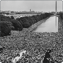 Dr. King's words riveted a crowd and caught the attention of a nation.