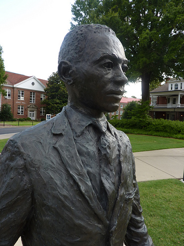 A monument to Meredith includes a full-size bronze.