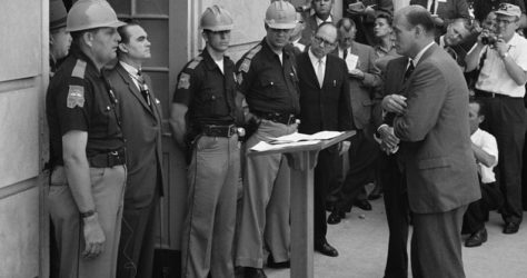 Gov. George Wallace attempted to defy the federal desegregation order on a hot June day.
